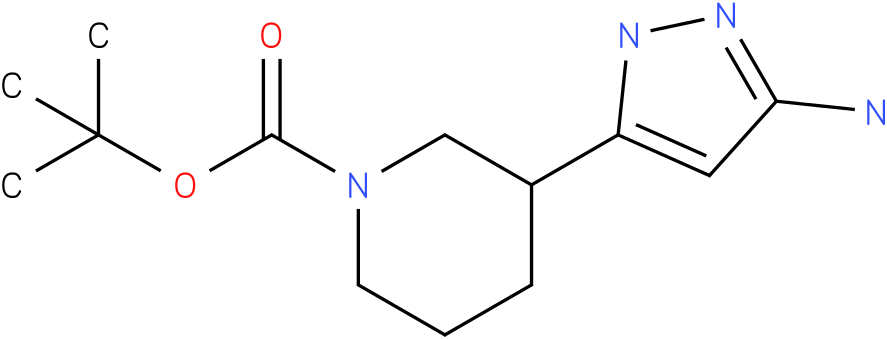 3-(5-amino-1h-pyrazol-3-yl)-piperidine-1-carboxylic acid tert-butyl ester