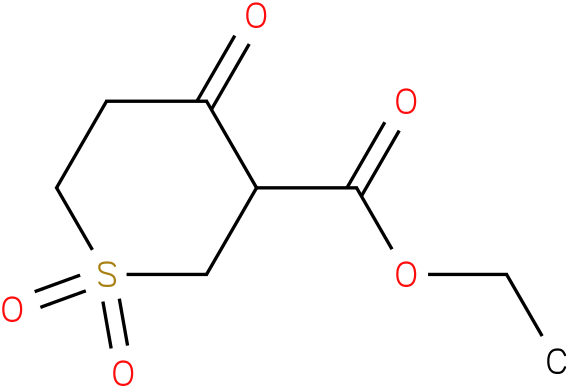 ETHYL 1,1,4-TRIOXO-HEXAHYDRO-1L6-THIOPYRAN-3-CARBOXYLATE