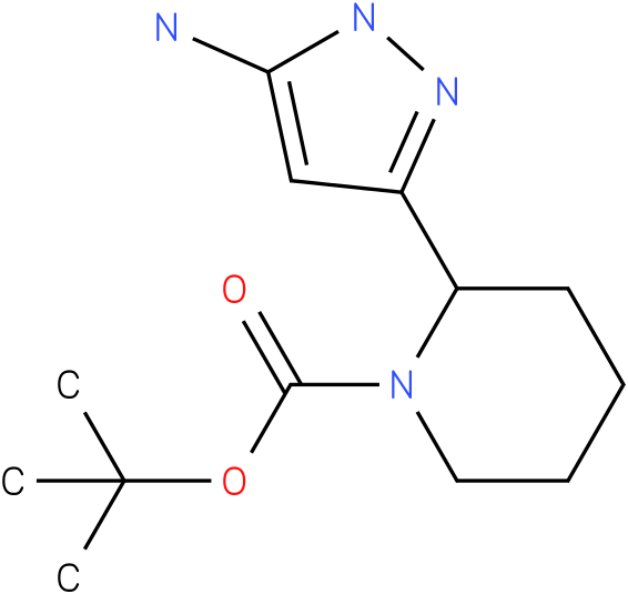 2-(5-amino-1h-pyrazol-3-yl)-piperidine-1-carboxylic acid tert-butyl ester