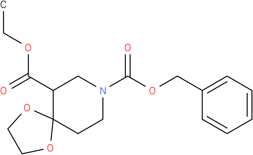 8-benzyl 6-ethyl 1,4-dioxa-8-azaspiro[4.5]decane-6,8-dicarboxylate