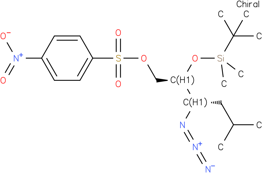 (2S,3S)-3-azido-2-(tert-butyldimethylsilyloxy)-5-methylhexyl 4-nitrobenzenesulfonate