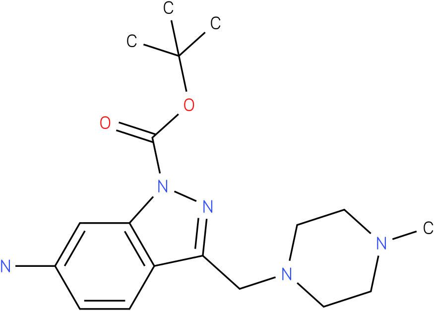 6-amino-3-(4-methyl-piperazin-1-ylmethyl)-indazole-1-carboxylic acid tert-butyl ester