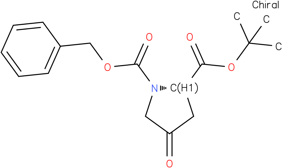 (S)-1-benzyl 2-tert-butyl 4-oxopyrrolidine-1,2-dicarboxylate