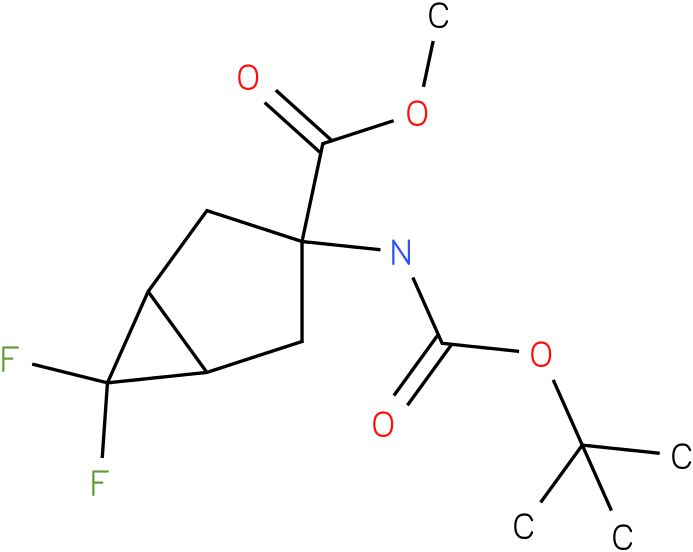 methyl 3-(tert-butoxycarbonylamino)-6,6-difluorobicyclo[3.1.0]hexane-3-carboxylate