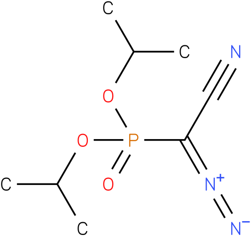 diisopropyl cyano(diazo)methylphosphonate