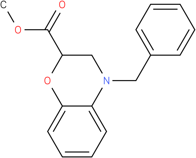methyl 4-benzyl-3,4-dihydro-2H-benzo[b][1,4]oxazine-2-carboxylate