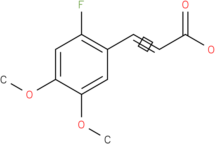3,4-dimethoxy-6-fluorocinnamic acid