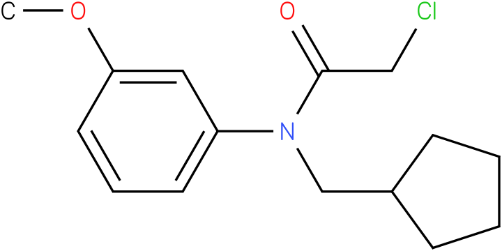 2-chloro-N-(cyclopentylmethyl)-N-(3-methoxyphenyl)acetamide