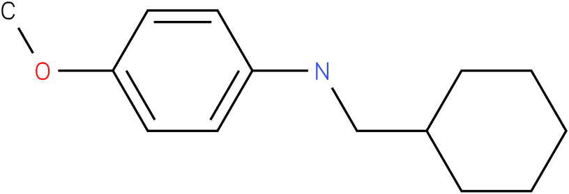 N-(cyclohexylmethyl)-4-methoxybenzenamine