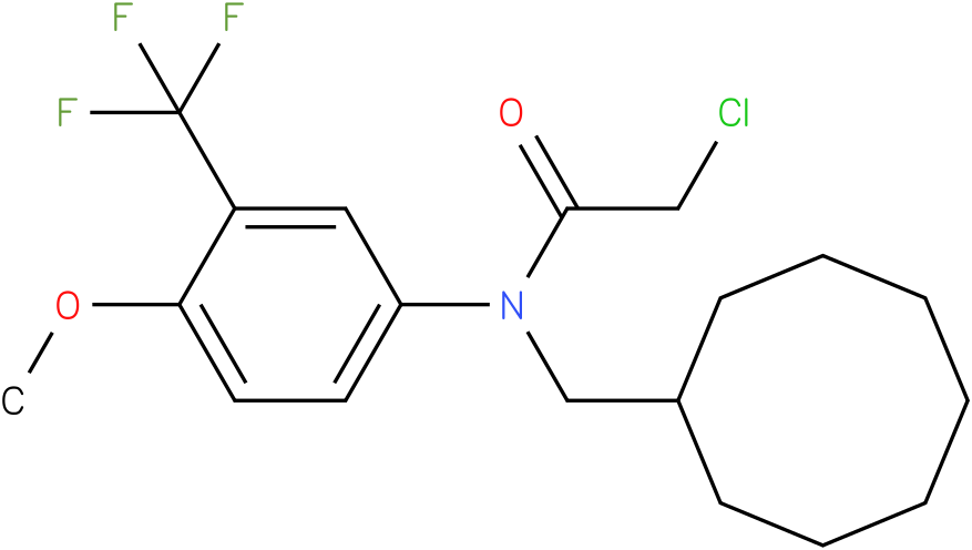 2-chloro-N-(cyclooctylmethyl)-N-(3-(trifluoromethyl)-4-methoxyphenyl)acetamide