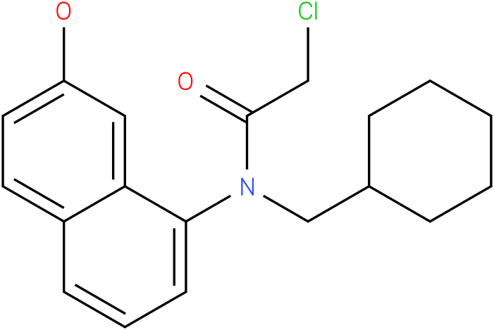 2-chloro-N-(cyclohexylmethyl)-N-(2-hydroxynaphthalen-8-yl)acetamide
