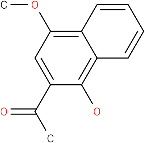 2-acetyl-1-hydroxy-4-methoxynaphthalene
