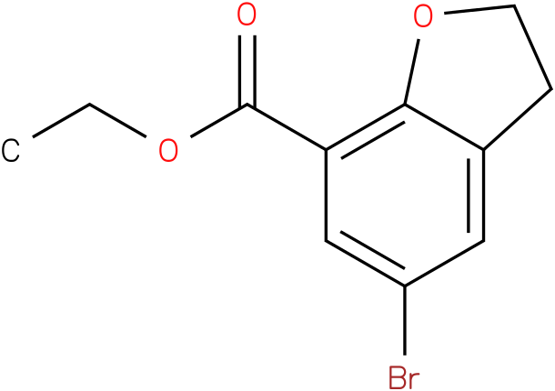 ethyl 5-bromo-2,3-dihydrobenzofuran-7-carboxylate