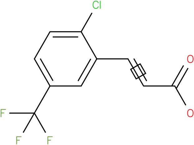 3[-2-chloro-5-(trifluoromethyl)phenyl]-2-propenoic acid