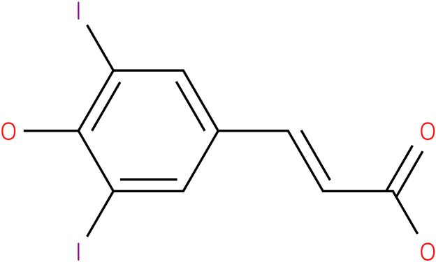 3,5-diiodo-4-hydroxycinnamic acid