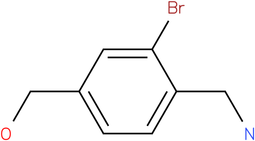 (4-(aminomethyl)-3-bromophenyl)methanol