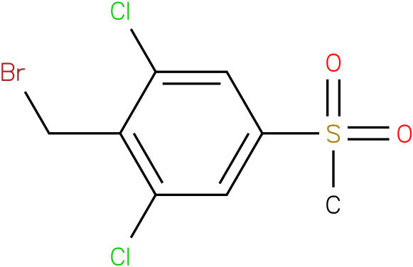 2-(bromomethyl)-1,3-dichloro-5-(methylsulfonyl)benzene