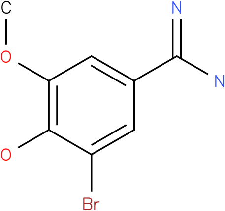 3-bromo-4-hydroxy-5-methoxybenzamidine