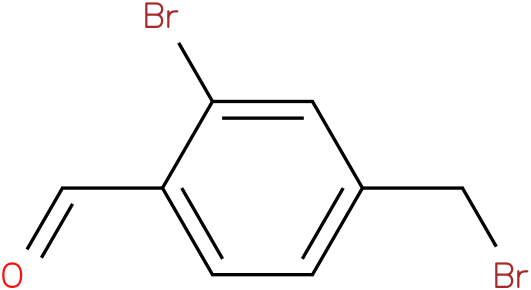 2-bromo-4-(bromomethyl)benzaldehyde