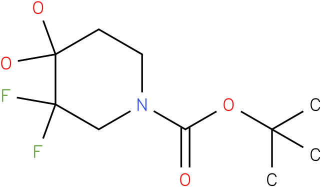 tert-butyl 3,3-difluoro-4,4-dihydroxypiperidine-1-carboxylate