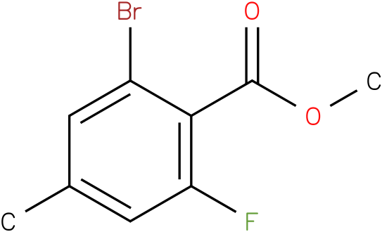 methyl 2-bromo-6-flouro-4-methylbenzoate
