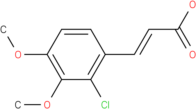 (E)-3-(2-chloro-3,4-dimethoxyphenyl)acrylic acid