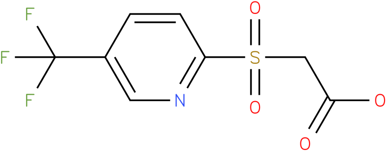 2-(5-(trifluoromethyl)pyridin-2-ylsulfonyl)acetic acid