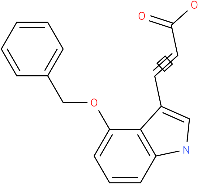 3-(4-(benzyloxy)-1H-indol-3-yl)acrylic acid