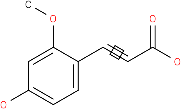3-(4-hydroxy-2-methoxyphenyl)acrylic acid