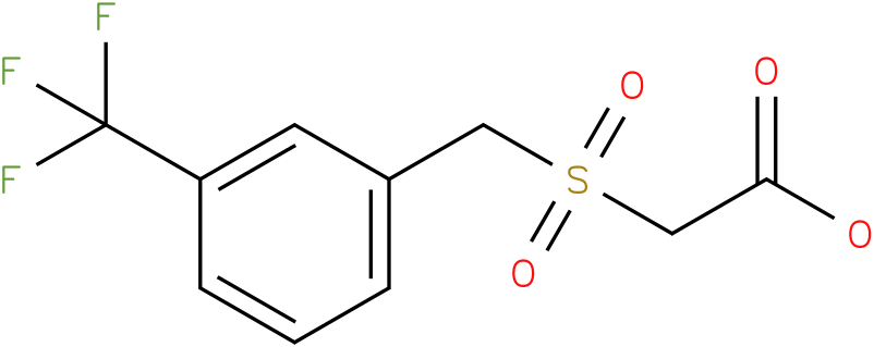 2-(3-(trifluoromethyl)benzylsulfonyl) acetic acid