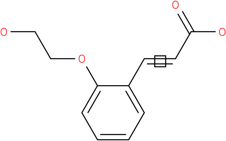 3-(2-(2-hydroxyethoxy)phenyl)acrylic acid