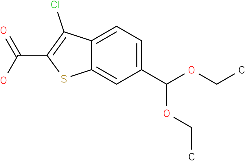 3-chloro-6-(diethoxymethyl)benzo[b]thiophene-2-carboxylic acid