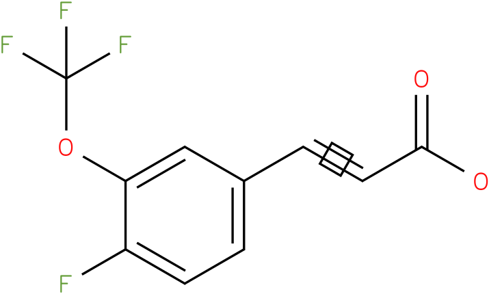 3-(4-fluoro-3-(trifluoromethoxy)phenyl)acrylic acid