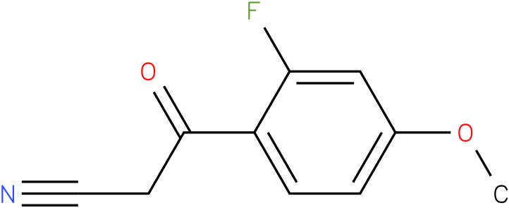 3-(2-fluoro-4-methoxyphenyl)-3-oxopropanenitrile