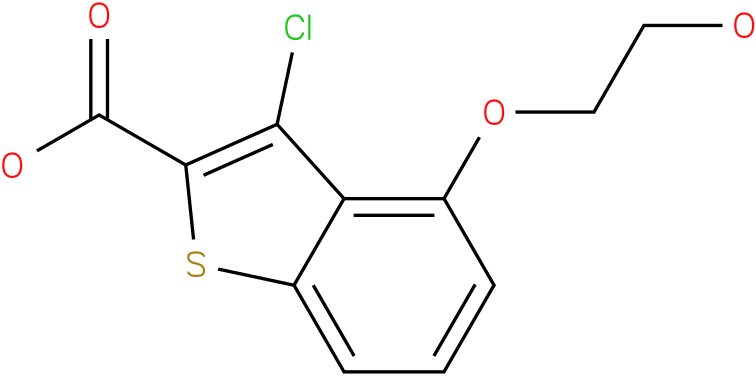 4-(2-hydroxyethoxy)-3-chlorobenzo[b]thiophene-2-carboxylic acid
