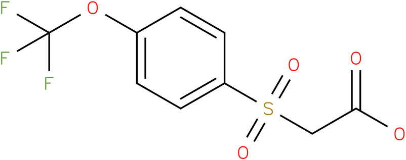 2-(4-(trifluoromethoxy)phenylsulfonyl) acetic acid