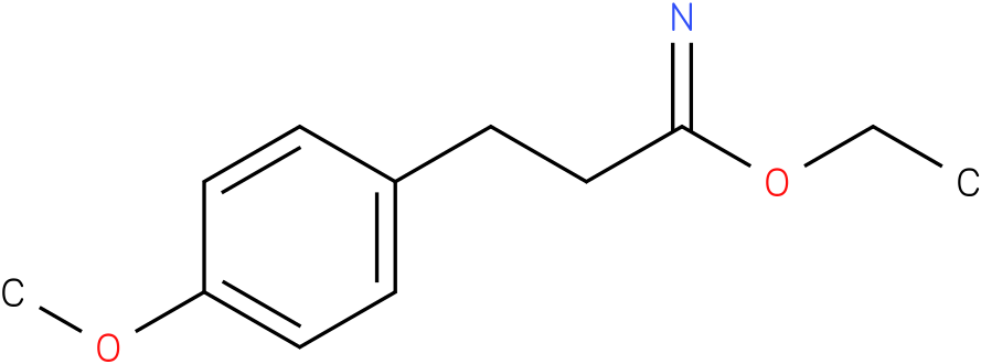 ethyl 3-(4-methoxyphenyl)propanimidoate