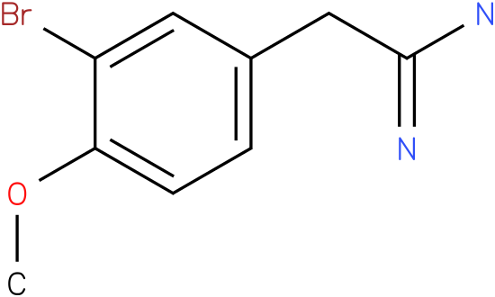 2-(3-bromo-4-methoxyphenyl)acetamidine