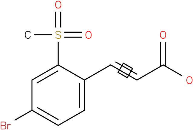 (E)-3-(4-bromo-2-(methylsulfonyl)phenyl)acrylic acid