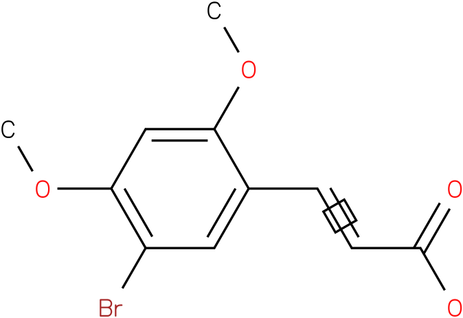 (E)-3-(5-bromo-2,4-dimethoxyphenyl)acrylic acid