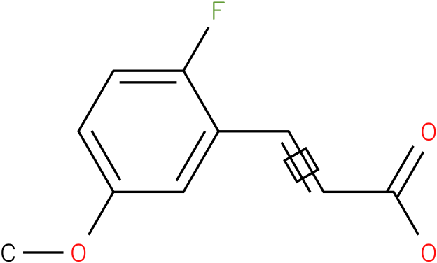 (E)-3-(2-fluoro-5-methoxyphenyl)acrylic acid
