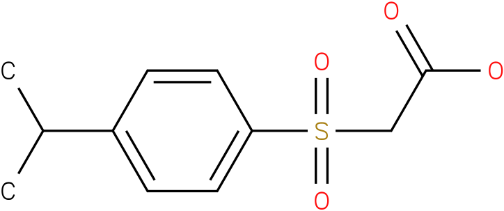 2-(4-isopropylphenylsulfonyl)acetic acid