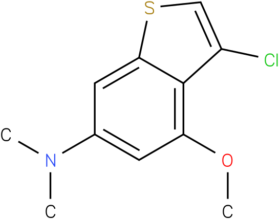 3-chloro-4-methoxy-N,N-dimethylbenzo[b]thiophen-6-amine