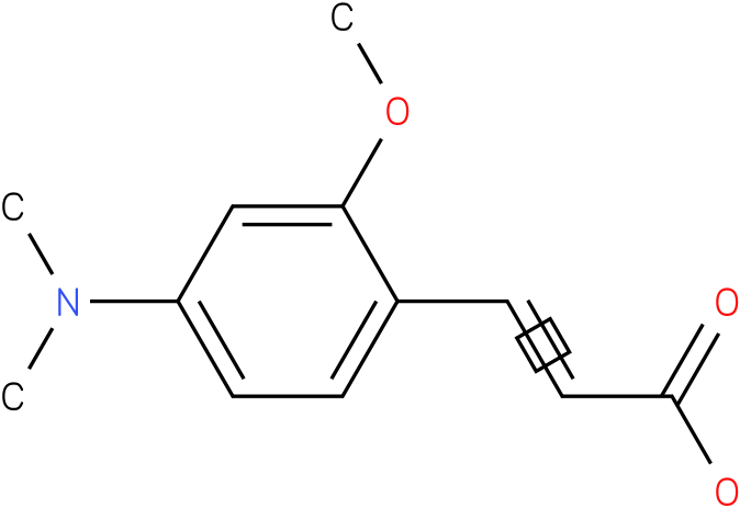 3-(4-(dimethylamino)-2-methoxyphenyl)acrylic acid