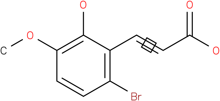 (E)-3-(6-bromo-2-hydroxy-3-methoxyphenyl)acrylic acid