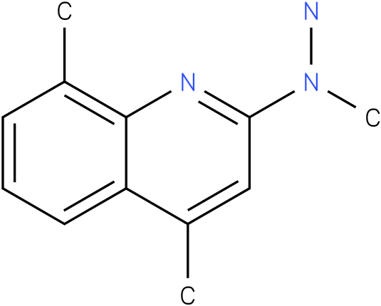 1-methyl-1-(4,8-dimethylquinolin-2-yl)hydrazine