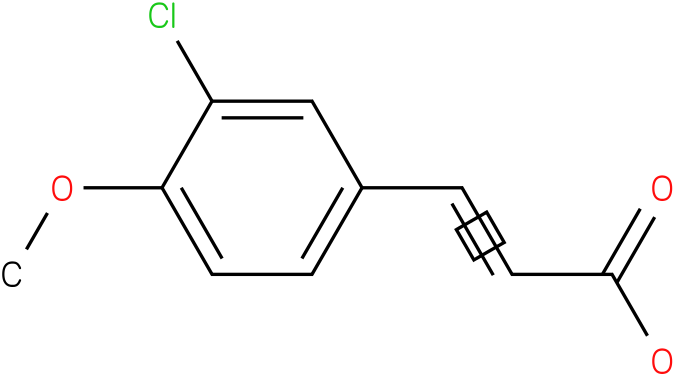 (E)-3-(3-chloro-4-methoxyphenyl)acrylic acid