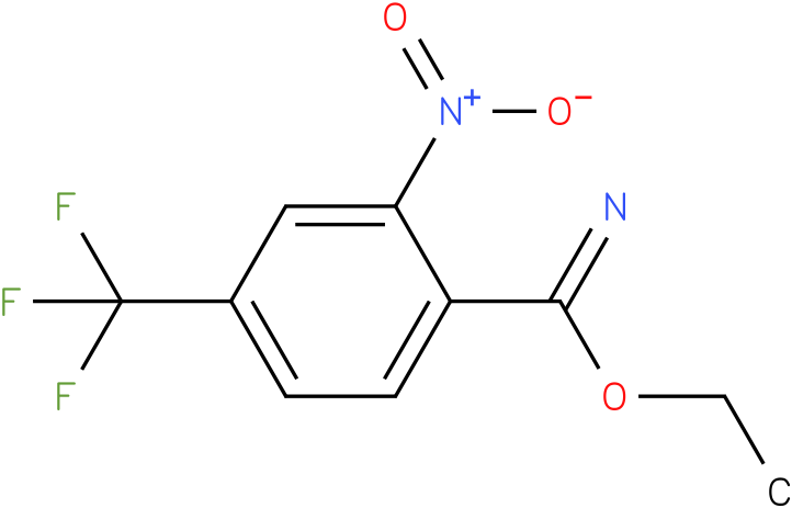 ethyl 4-(trifluoromethyl)-2-nitrobenzoimidate