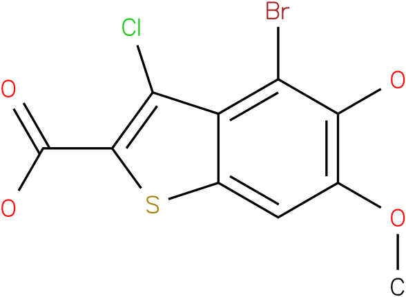 4-bromo-3-chloro-5-hydroxy-6-methoxybenzo[b]thiophene-2-carboxylic acid