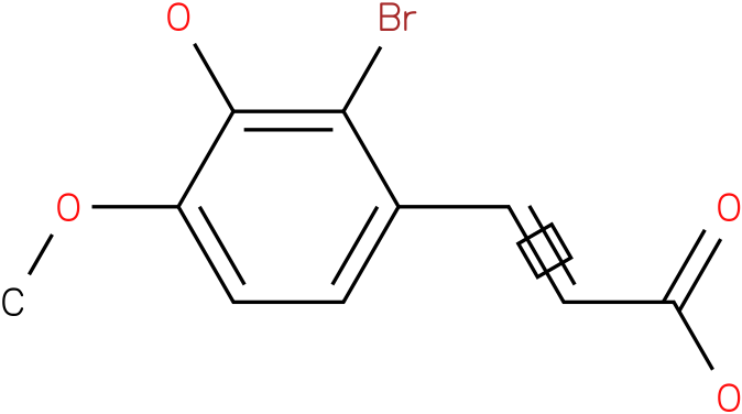 3-(2-bromo-3-hydroxy-4-methoxyphenyl)acrylic acid